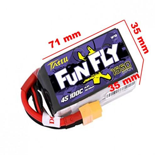 باتری Tattu FunFly 1550mAh 100C Lipo 4S