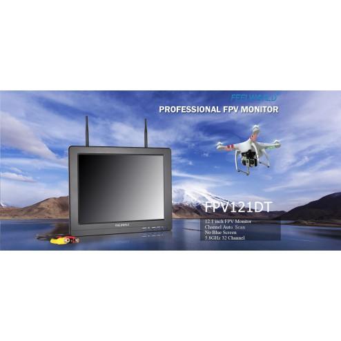 مانیتور 1080P Feelworld FPV-121DT 12inch با Dual 5.8G 32CH