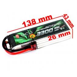 باتری Ace 3300mAh 25C 14.8V 4S1P