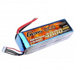 باتری Gens ace 4000mAh 25C 14.8V 4S1P