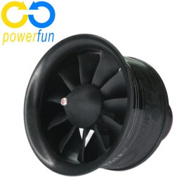 داکتد فن 50mm Powerfun EDF 11 Blades Ducted Fan با RC Brushless Motor 4S 4300KV