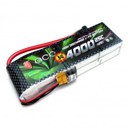 باتری ace 4000mah 25c 2cell