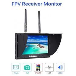 مانیتور  Dual IPS LCD متنوع 5802D S 7inch با Dual 5.8G 40CH  همراه با DVR دارای باتری داخلی