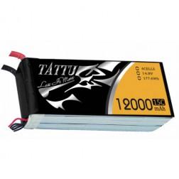 باتری لیتیوم پلیمر 4 سل tattu 12000mAh 15c