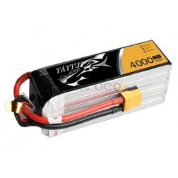 باتری لیتیوم پلیمر 4 سل tattu 4000mAh 25c