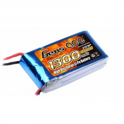 باتری لیتیوم پلیمر  Gens ACE 1300 mAh 7.4 V 2S 25C