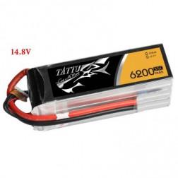 باتری لیتیوم پلیمر 4 سل tattu 6200mAh 35c