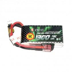 باتری Ace 1300mAh 20C 7.4V 2S1P