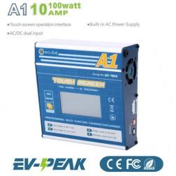 شارژر صفحه لمسی 100وات 10آمپر 6-1سل EV-Peak A1 AC/DC