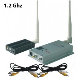 ارسال تصویر FOX-2500 1.2G 3000 meters Long Range Video Wireless A/V Audio Video Sender به همراه گیرنده