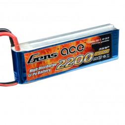باتری لیتیوم پلیمر 2200mAh 20C 7.4V 2S1P