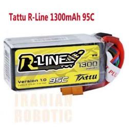 باتری Tattu 1300mAh 14.8V 95C R-LINE