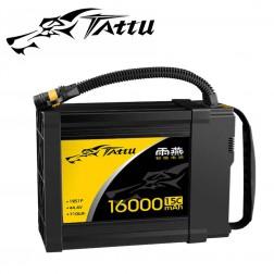 باتری لیتیوم پلیمر Tattu 12S 16000mah 44.4V 15C