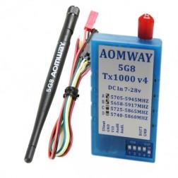 ارسال تصویر 1 وات مدل Aomway TX1000 V4 دوربرد قدرت 1000 میلی وات 5.8 گیگاهرتز 32 کانال